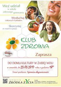 Klub zdrowia plakat A4 230320017